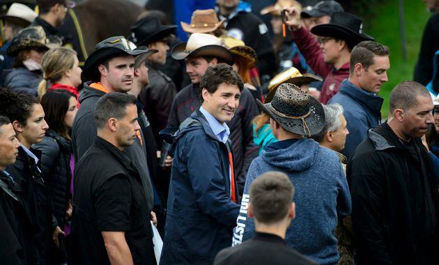 Le chef libéral Justin Trudeau s'arrête au Festival Western de St-Tite, le samedi 14