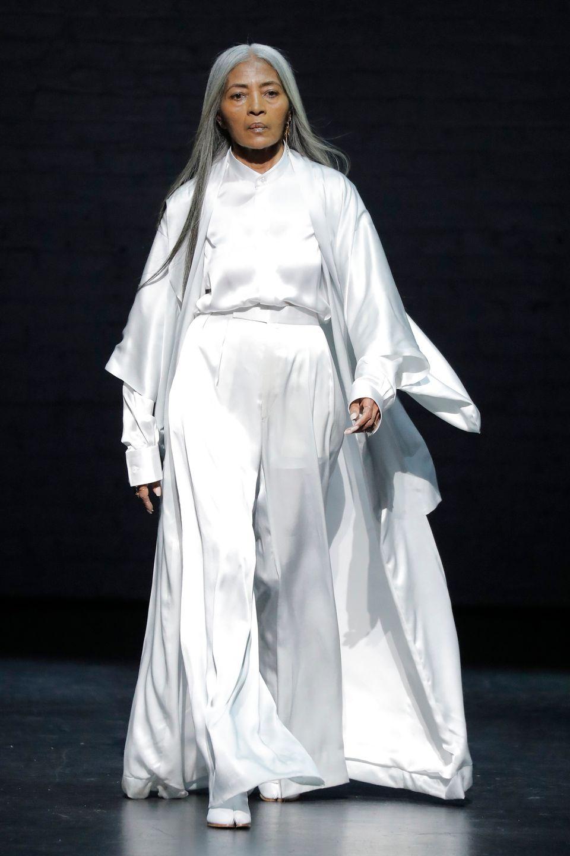 Στην επίδειξη του σχεδιαστή Όζγουολντ Μπόατενγκ στο Apollo Theater της Νέας Υόρκης, 5 Μαΐου 2019.