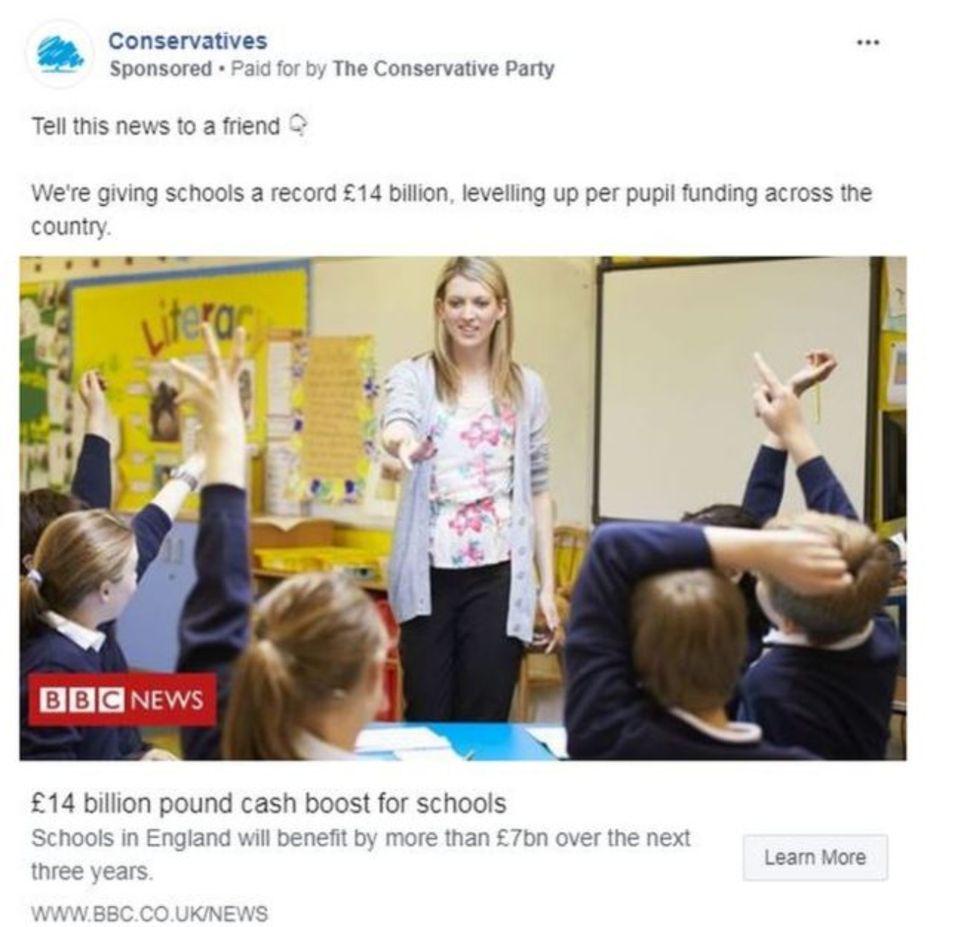 Anúncio Tory no