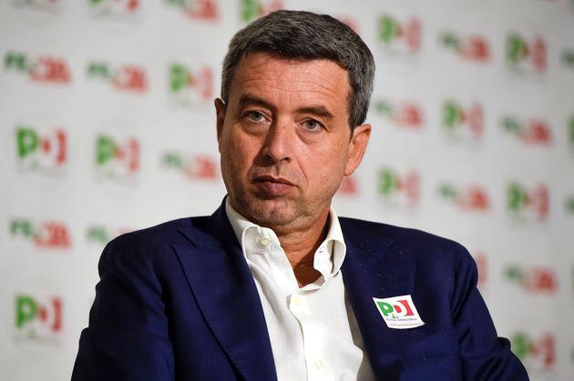 TURIN, ITALY - 2019/09/10: Andrea Orlando attends Festa de l'Unità in Turin. Andrea Orlando is a founding...