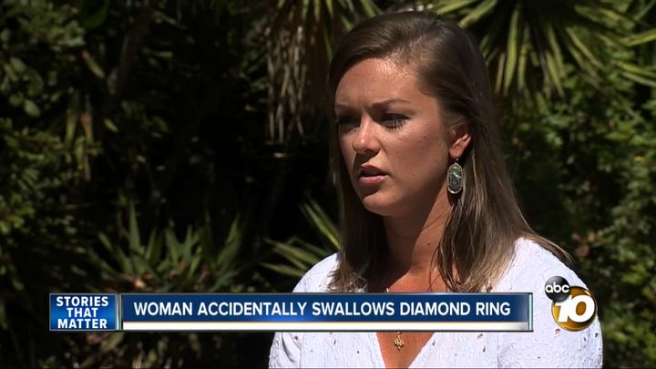 """Jenna Evans said she was dreaming about being on a high-speed train and having to swallow her ring to prevent some """"bad guys"""""""