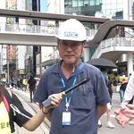 홍콩 시위 현장에서 포착된 한국 배우가