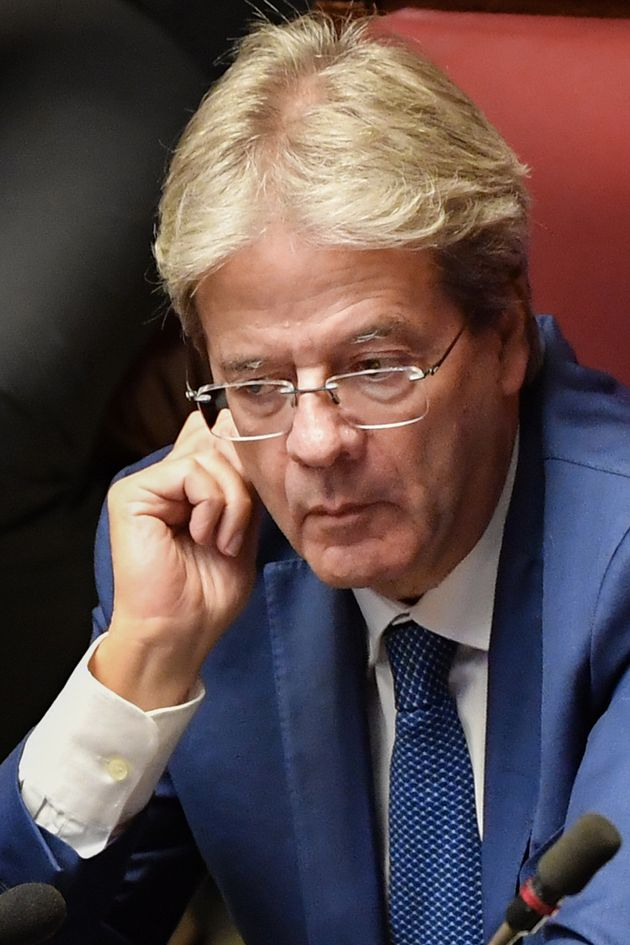Former Italian prime minister Paolo Gentiloni attends the new government confidence vote on September...