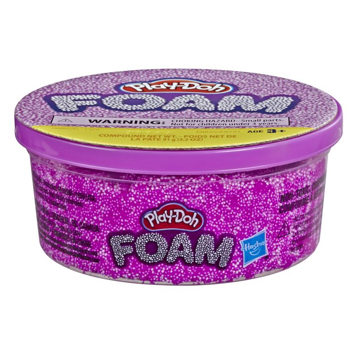 Play-Doh Foam has a squishy but firm texture that keeps the shape users mold.