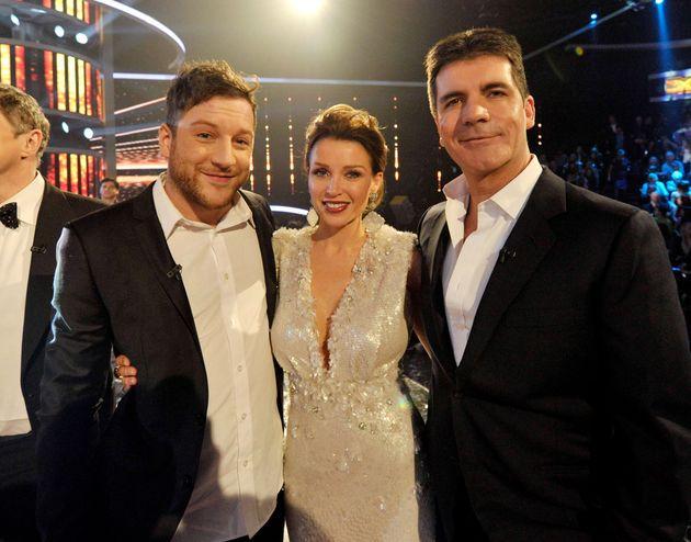 Dannii with contestant Matt Cardle and Simon