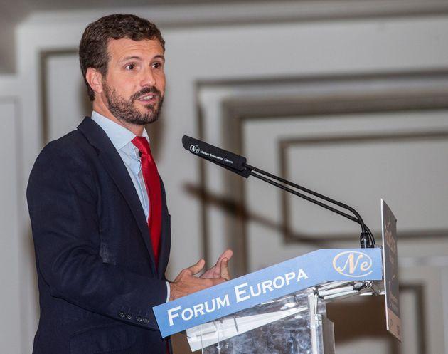 El presidente nacional del PP, Pablo