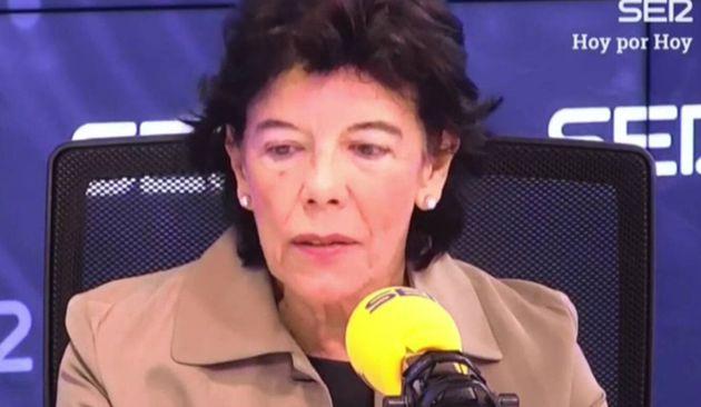 La portavoz del Gobierno, Isabel