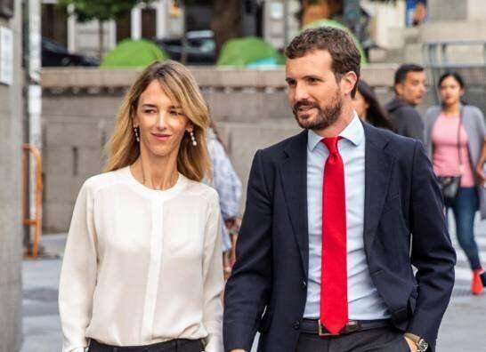 El presidente del PP, Pablo Casado, y la portavoz del partido en el Congreso, Cayetana Álvarez de