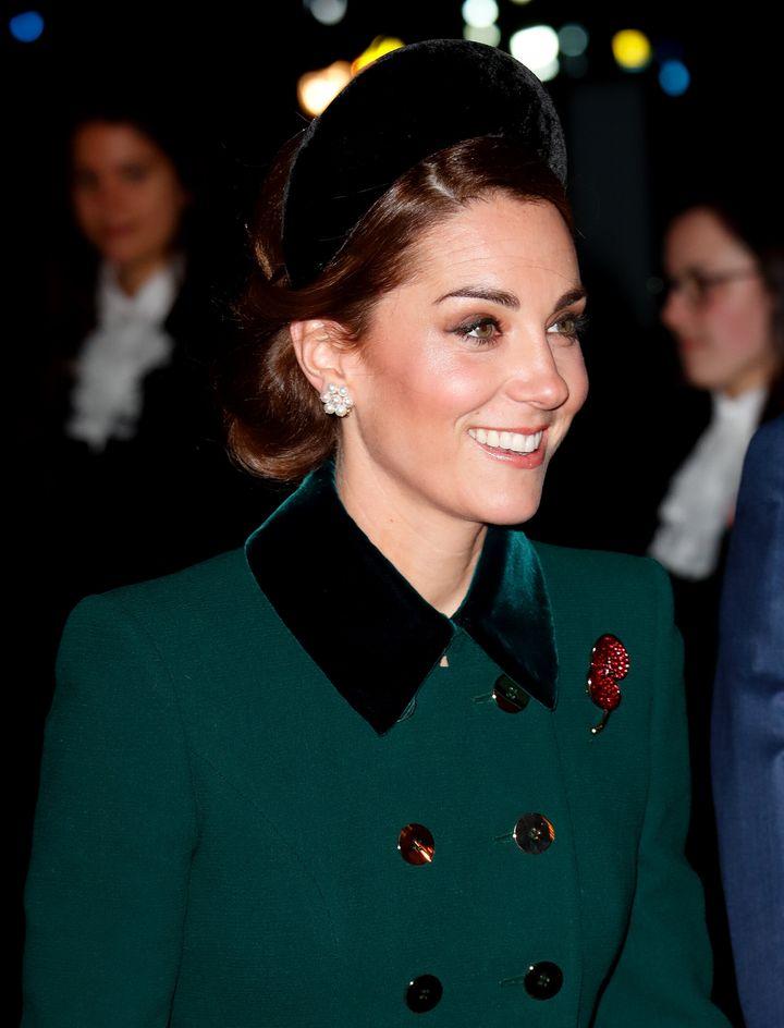 Kate Middleton apuesta por el recogido.
