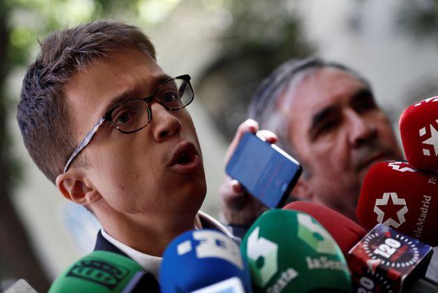 El portavoz de Más Madrid en la Asamblea de Madrid, Íñigo