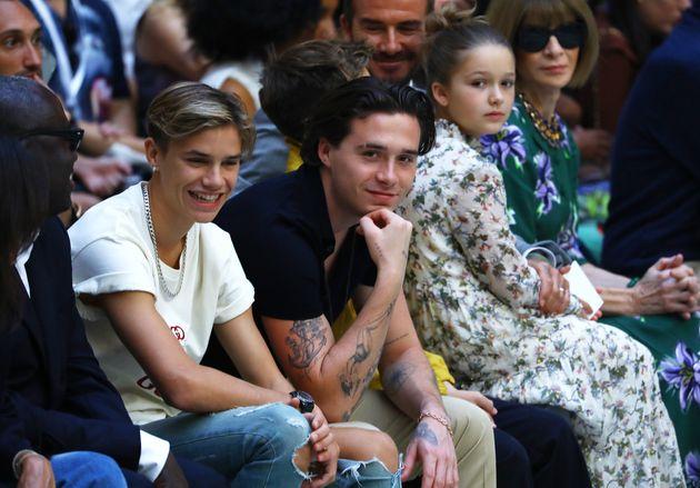 Romeo Beckham, Brooklyn Beckham, Cruz Beckham et