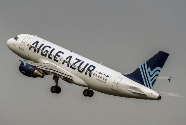 An Airbus A319 aircraft of Weaving group's French airline Aigle Azur takes off from Lille Airport in...