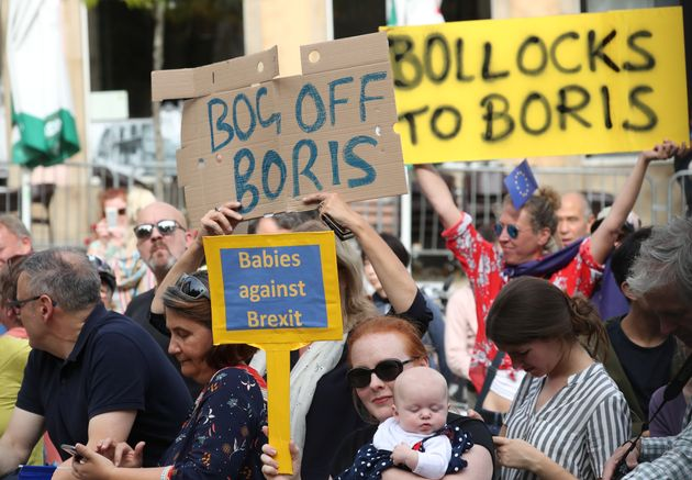 Boris Johnson Bottles Luxembourg Press Conference As Protesters Boo And Jeer