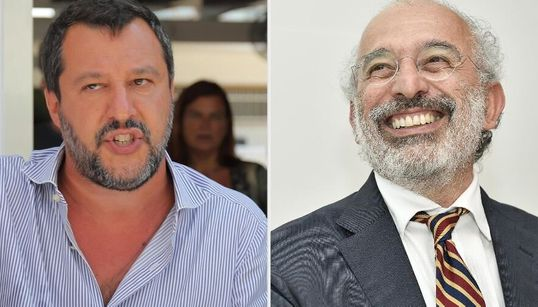 """Dopo gli insulti a Pontida, Salvini attacca Lerner: """"Questi non sono giornalisti ma"""