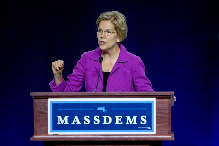 Sen. Elizabeth Warren of Massachusetts, a Democratic presidential hopeful, nabbed the big endorsement ahead of a campaign ral