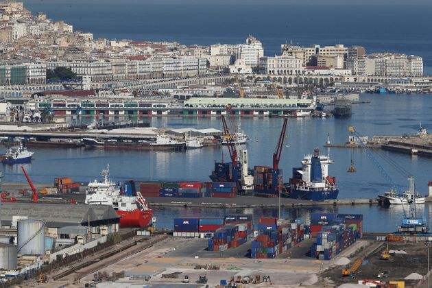 Algiers Port, General View of Algiers on November 24, 2017 Algerian voters are choosing new local leaders...