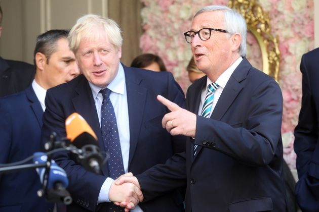 Boris Johnson et Jean-Claude Juncker lors d'une réunion au Luxembourg, septembre