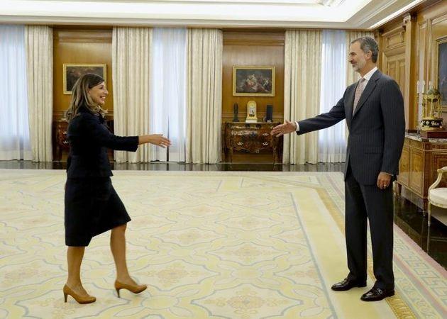 El rey Felipe VI recibe en audiencia a la diputada de Galicia en Común, Yolanda