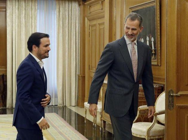 El rey Felipe VI recibe al líder de Izquierda Unida y diputado de Unidas Podemos, Alberto