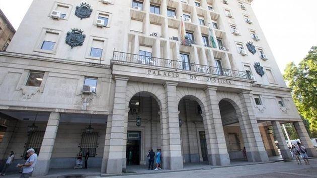 Fachada de la Audiencia de Sevilla, en una imagen de