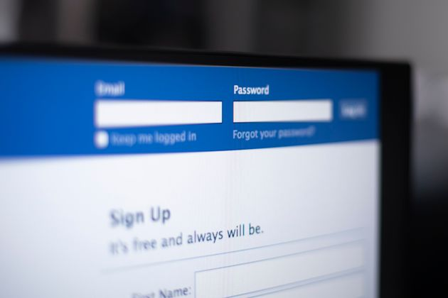 The Facebook login screen is seen in this photo illustration on March 13, 2019 in Warsaw,