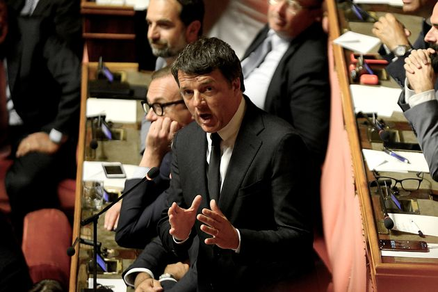 ROME, ITALY - AUGUST 20: Matteo Renzi speaks at the Senate Assembly on August 20, 2019 in Rome, Italy....