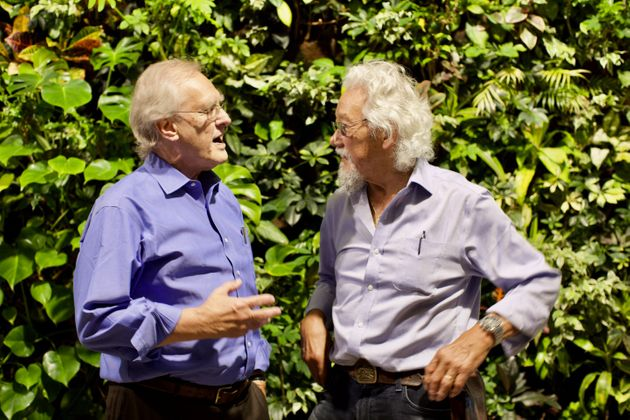 Stephen Lewis, left, and David Suzuki are on a speaking tour called Climate First. They're pictured at...