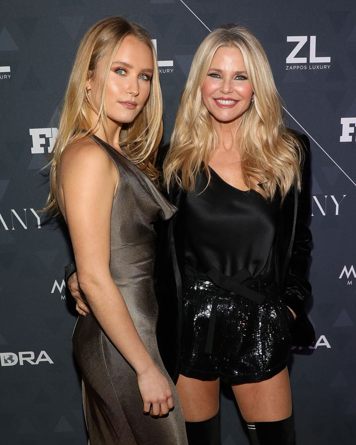 Sailor Brinkley Cook, left, and Christie Brinkley in 2018.