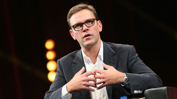 CANNES, FRANCE - OCTOBER 13:  James Murdoch Co-COO 21st Century Fox attends a Keynote during MIPCOM at the Palais des Festivals on October 13, 2014 in Cannes, France.  (Photo by Tony Barson/FilmMagic)