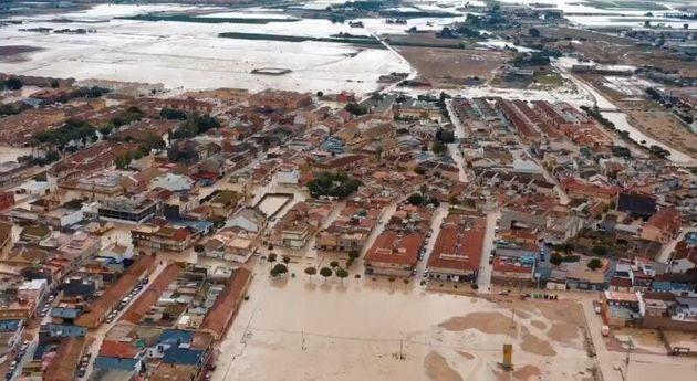 Fotografía aérea facilitada por el Ayuntamiento de Torre Pacheco que solicitará...