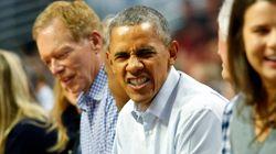 NBA 개막전에 나타난 오바마!