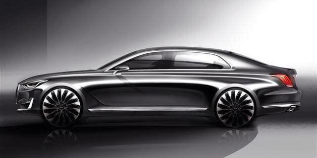 제네시스 브랜드의 첫 번째 모델 'EQ900' 다음달 출시