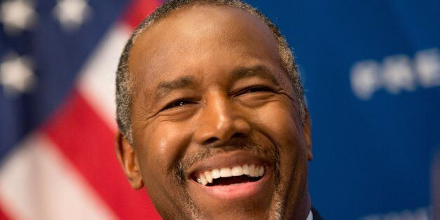 Republican presidential candidate Dr. Ben Carson speaks at a luncheon at the National Press Club in Washington,...