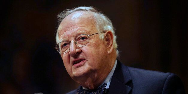 Angus Deaton speaks at a gathering at Princeton University after it was announced that he won the Nobel...