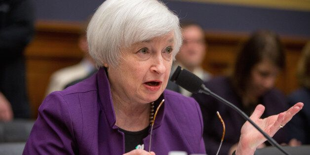 Federal Reserve Chair Janet Yellen testifies on Capitol Hill in Washington, Wednesday, Nov. 4, 2015,...