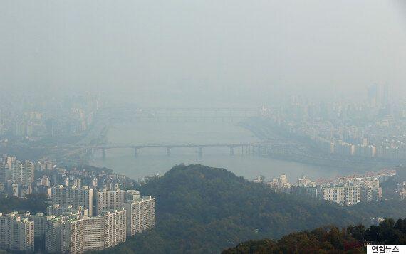오늘 오후부터 '중국발 스모그'의 영향을