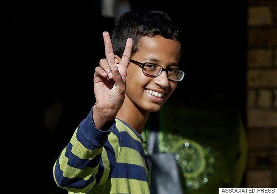 '폭탄으로 오해받은 시계'를 만든 무슬림 소년, 미국을