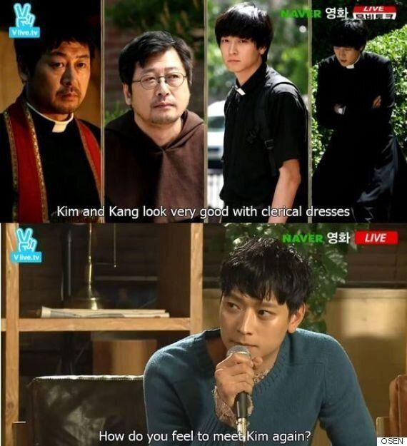 '검은 사제들' 강동원, 800만 공약
