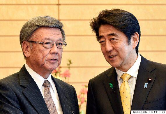 일본 오키나와지사, 미군기지 승인