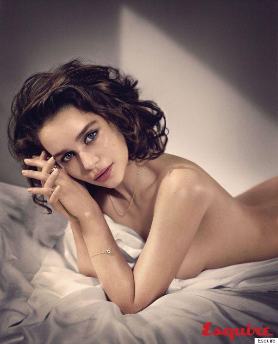 에밀리아 클라크. '에스콰이어'의 '현존하는 가장 섹시한 여성'에 선정(화보,
