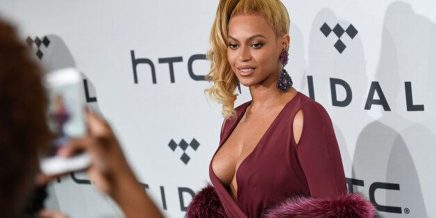 Singer Beyonce Knowles arrives at TIDAL X: 1020 Amplified by HTC at the Barclays Center on Tuesday, Oct....