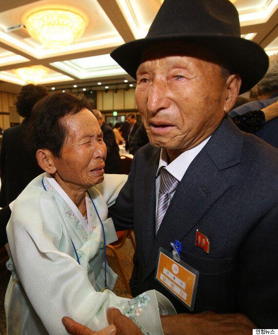 이산가족 북측 상봉자, 환영 만찬 도중
