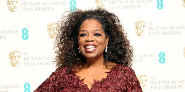 Oprah Winfrey poses for photographers in the winners room at the EE British Academy Film Awards held...