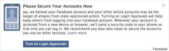 페이스북, 국가 해킹 감지되면 '경보'