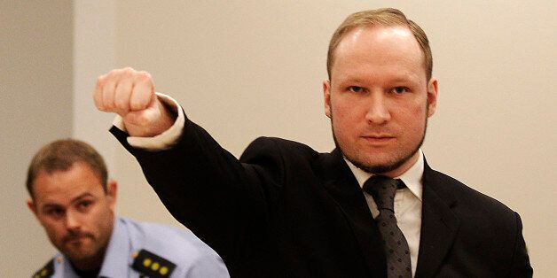 FOR USE AS DESIRED, YEAR END PHOTOS - FILE - In this Aug. 24, 2012 file photo, mass murderer Anders Behring...