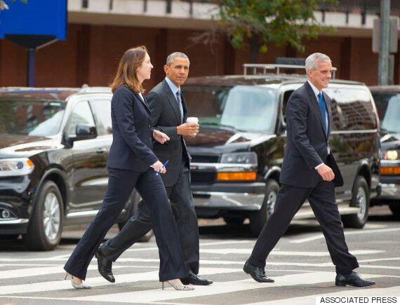 오바마, 또 걸어서 외출하다(화보
