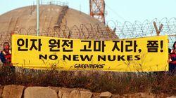 그린피스 활동가들, 고리 원전서 기습 시위