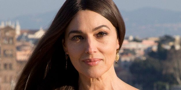 Actress Monica Bellucci poses during a photo call for the latest James Bond movie 'Spectre', in Rome,...