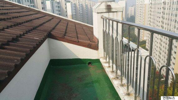 '캣맘 사건'이 일어난 옥상에 올라가
