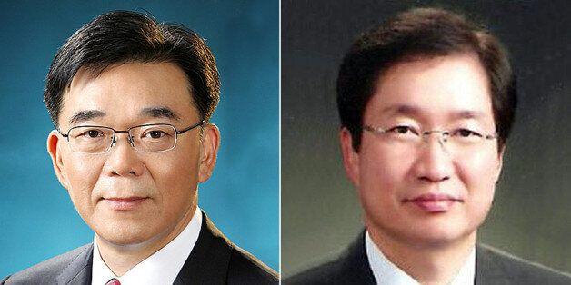 청와대는 19일 국토부 장관에 강호인 전 조달청장(왼쪽), 해수부 장관에 김영석 해수부 차관을 내정했다고
